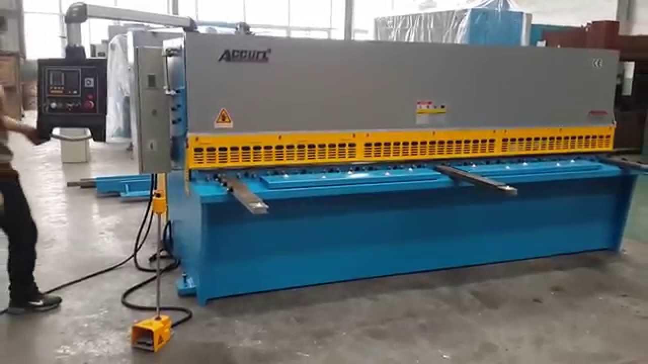 Accurl Hydraulic Guillotine Shear Qc12y Hydraulic