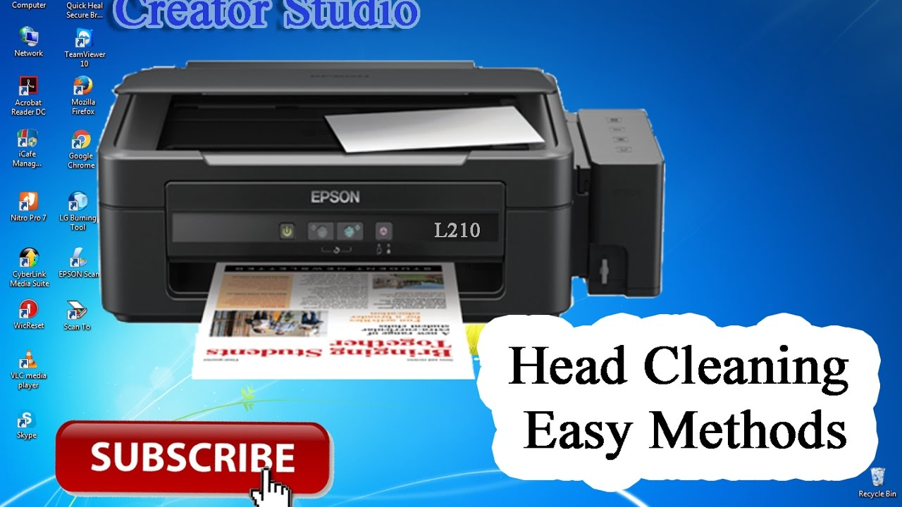 epson l210 clean how to head cleaning youtube rh youtube com Epson Printer Head Alignment Pattern Epson Workforce Printer Head Cleaner