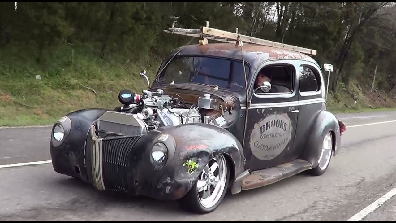 40 Ford Traditional Hot Rod Ride Along - YouTube