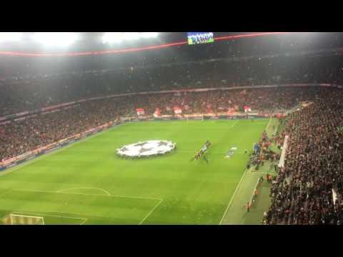 Bayern Munich vs Arsenal Champions League Anthem 15/2/2017 Allianz Arena