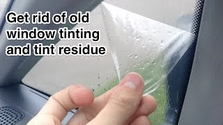 How to remove window tint and tinting residue