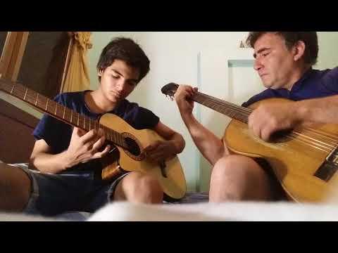 Siembra y labrador en guitarra
