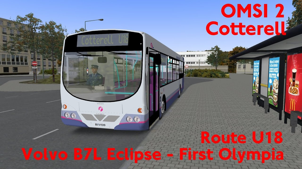 OMSI 2 Cotterell Route X18 Volvo Eclipse B7L Metro First