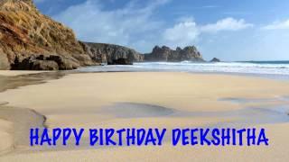 Deekshitha   Beaches Playas - Happy Birthday