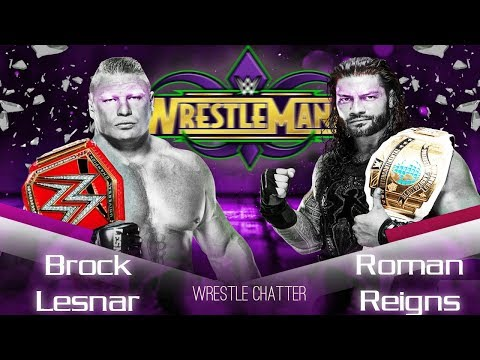 Roman Reigns Vs Brock Lesnar Wrestlmaina 34 Roman Reigns Losing Intercontinental Championship thumbnail