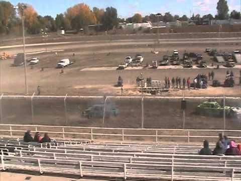 Black Hills Speedway Demolition Derby 2012 heat 1
