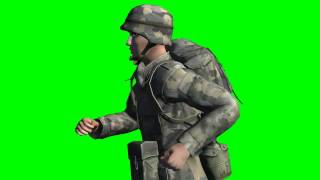 COD soldier runs - Part 5 - free green screen effects - free use