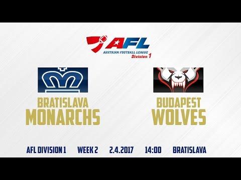 Bratislava Monarchs - Budapest Wolves | AFL Division 1 | WEEK 2