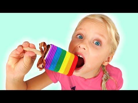 Алиса-и-папа---шоколадный-челлендж-для-детей-,-сладости-и-конфеты