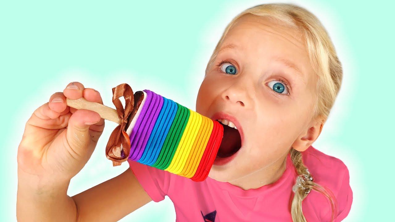 Алиса и папа - шоколадный челлендж для детей , сладости и конфеты