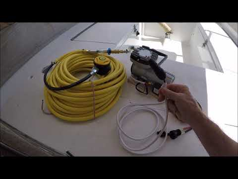DIY $300 Dive Hookah For Boat Bottom Cleaning