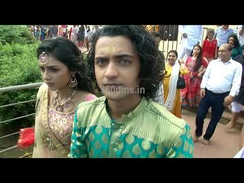 Star Bharat Serial Radha Krishna Star Cast Visit Mathura Temple For Promotion