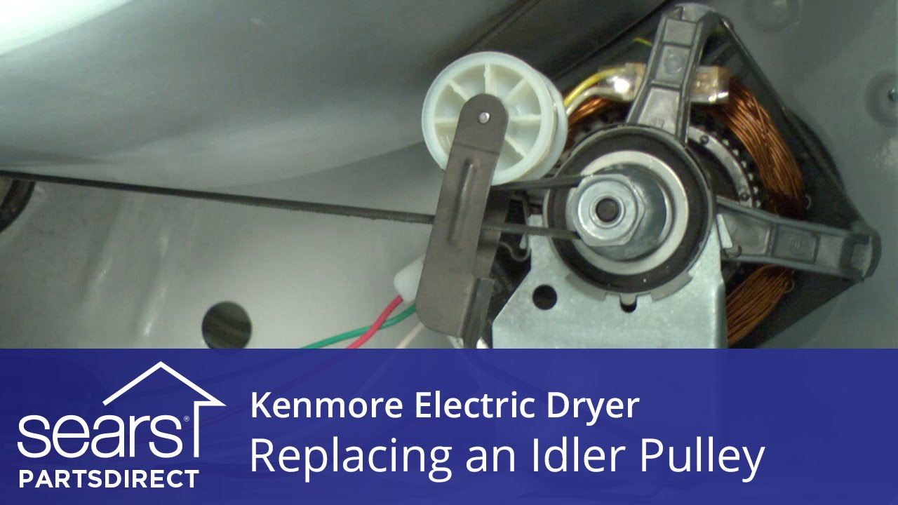 how to replace a kenmore electric dryer idler pulley sears partsdirect [ 1280 x 720 Pixel ]