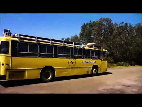 5 Aussie blokes Travel the country in a bus.