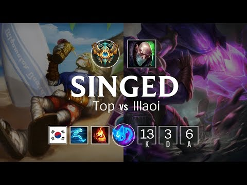 Singed Top vs Illaoi - KR Challenger Patch 8.9