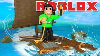 BUILDS MY OWN RAFT IN THE ROBLOX BUILD A BOAT FOR TREASURE!