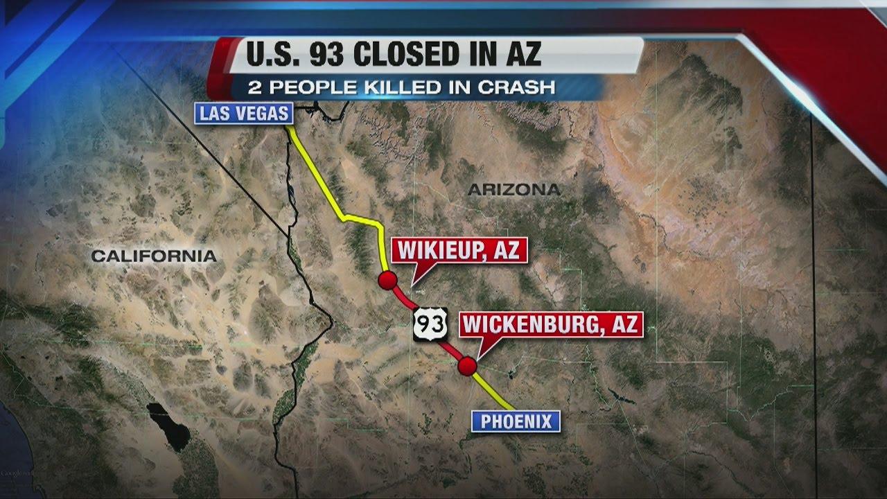 Head On Collision In Us 93 In Western Arizona Kills 2 Youtube - Us-93-arizona-map