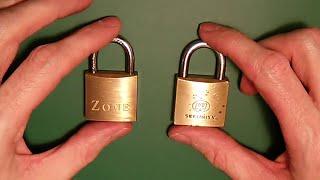 (27) Lock Picking - Zone & W Security 30mm Single Pin Picking & Raking