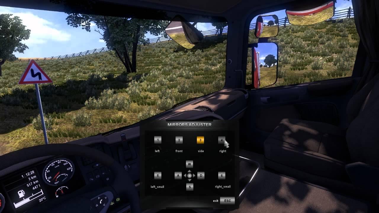 Gut bekannt Euro Truck Simulator 2 - Spiegel einstellen - rondomedia Trailer EG69