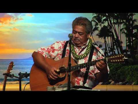 """""""Ua Mau"""" """"Hawaiian hymn"""" @SlackKeyShow.com Slack Key Guitar Master George Kahumoku Jr"""