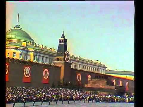 1 May in Soviet Union 1974 The Internationale Интернационал