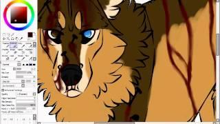 Watch Me Bleed (Wolf fursona speedpaint)