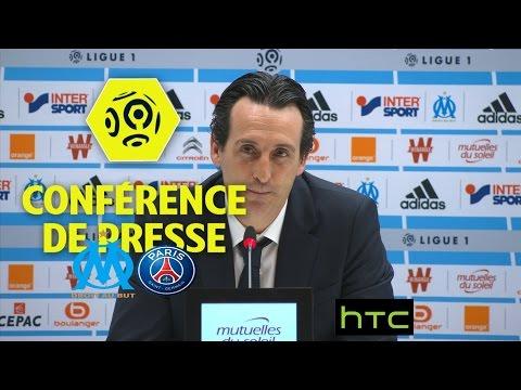 Conférence de presse Olympique de Marseille - Paris Saint-Germain (1-5) Ligue 1 /  2016-17