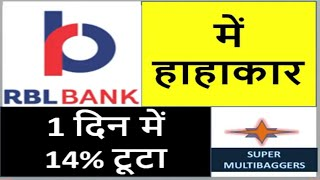RBL Bank में हाहाकार | Latest stock market tips