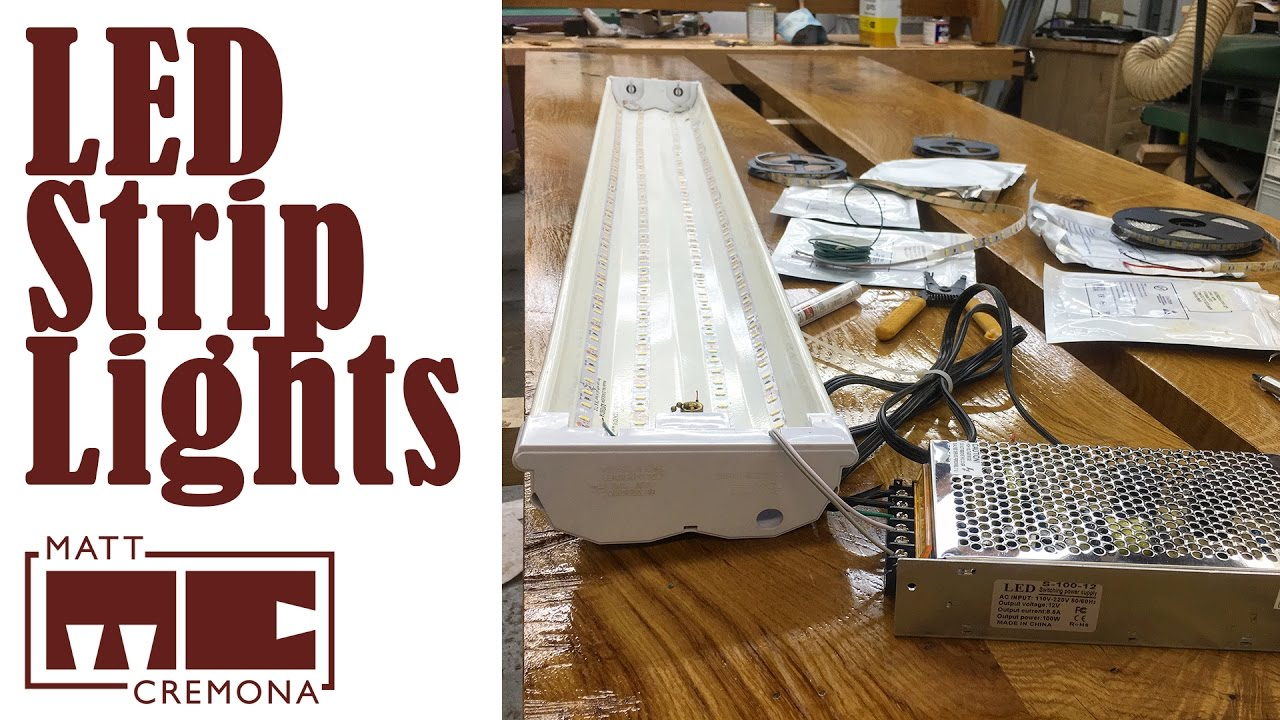 Custom Workshop Lighting Solutions With Led Strips Youtube