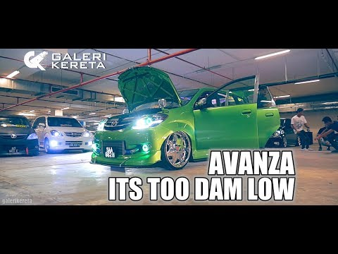 4 Seater Toyota Avanza. Its Too Damn Low
