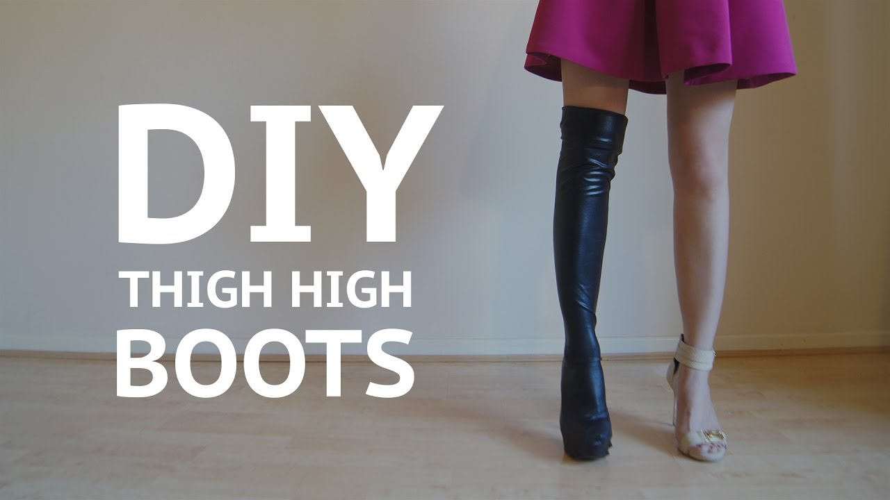 How To Make Thigh High Boot Covers