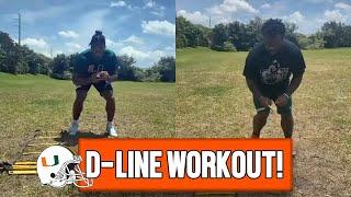 DE Gregory Rousseau, DT Nesta Jade Silvera Offseason Quickness Drills | 2021 NFL Draft