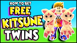 How To Get FREE KITSUNE TWIN PETS for FREE in Adopt Me!! Prezley Adopt Me Legendary Pet Update!!