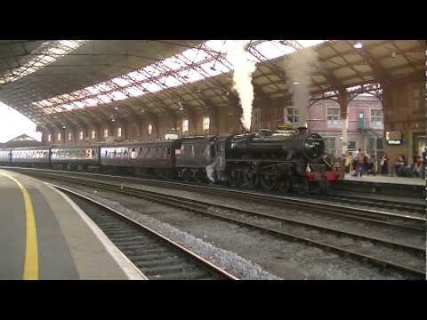 *MEGA WHISTLE* Black 5 No. 44932 thunders out of Bristol on 'The Bath and Bristol' 24/03/12