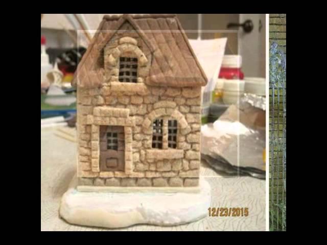 домики из соленого теста фото