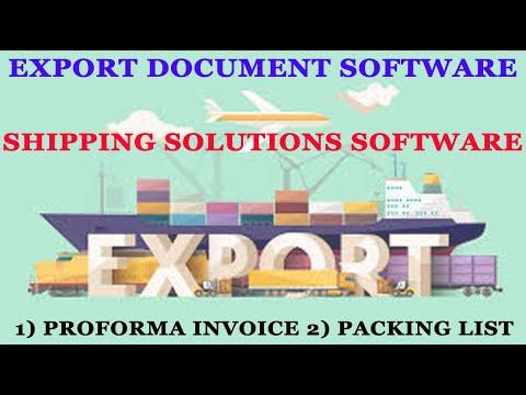 Export Document Software, Export Management Software, Shipping Software, Garment Export Software.
