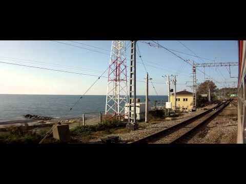 Адлер -Туапсе вдоль моря Эд4м HD