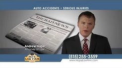 Iowa Auto Accident Attorneys at Hope Law Firm | Personal Injury Lawyers Iowa
