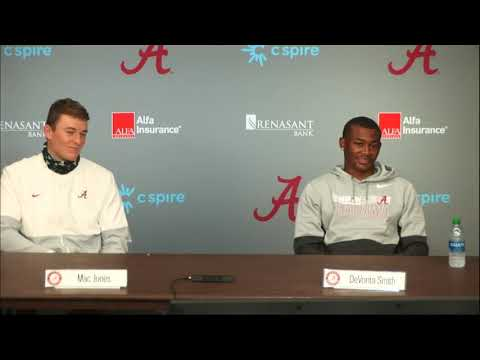 Hear what Mac Jones & DeVonta Smith had to say following Alabama's 41-0 shutout of Mississippi State
