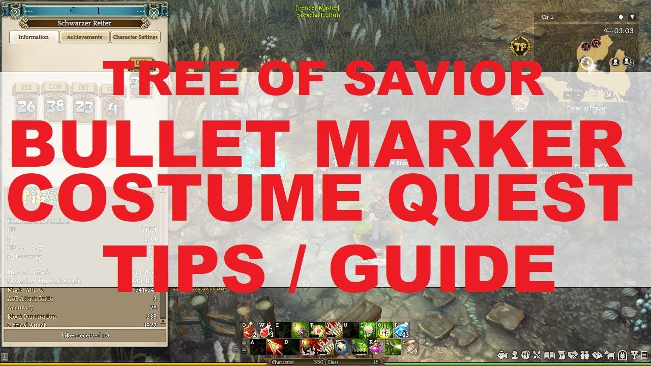 BULLET MARKER COSTUME QUEST - TIPS/GUIDE : treeofsavior