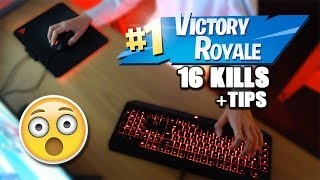 CRAZY HIGH KILL SOLO WIN (TIPS) + KEYBOARD CAM (Fortnite Battle Royale)