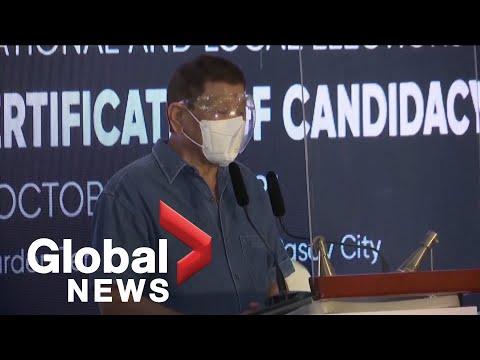 Philippines' President Duterte announces retirement from politics