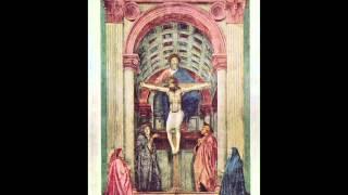 15. Masaccio, Die Dreifaltigkeit, 1425-1428, Kirche Santa Maria Novella, Florenz, Italien