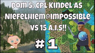 Dominions 5: Cpl. Kindel gameplay ep#1 Neifelheim on impossible vs 15 ai, pretender & map creation