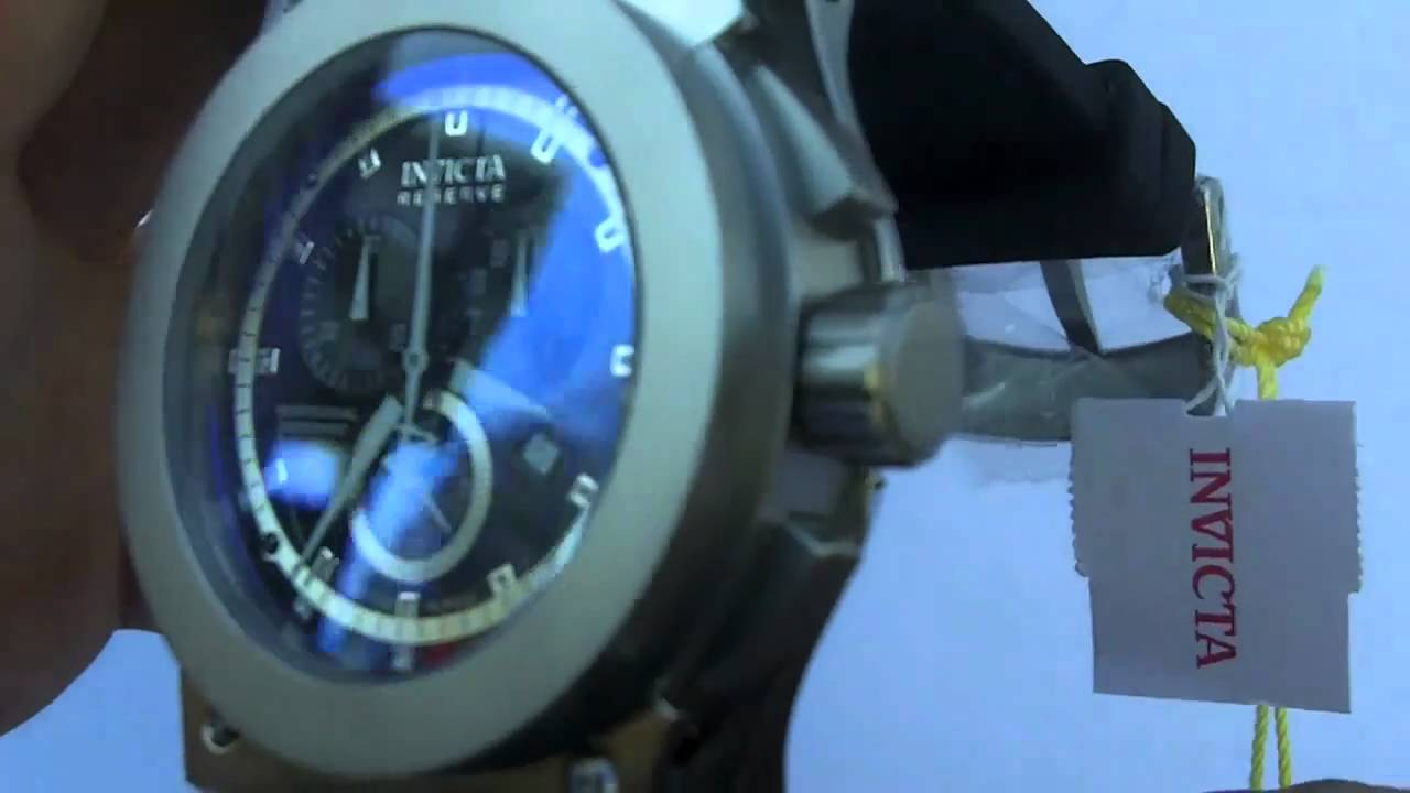 d07916f68 Invicta Watch Men's 4844 Reserve Specialty Akula Chronograph Swiss Made -  YouTube