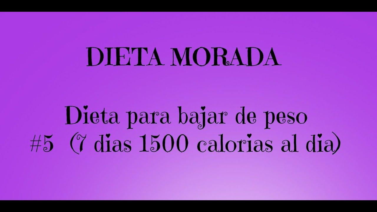 Dieta para bajar de peso de 1500 calorias