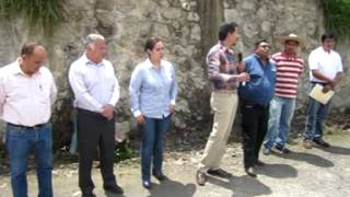Inaugura Presidente Municipal Tanque de Agua en Rosa Santa