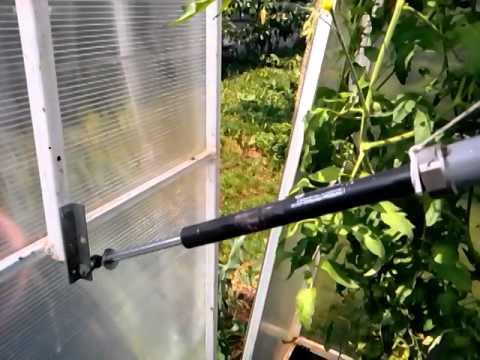 автоматический термопривод проветриватель для теплиц