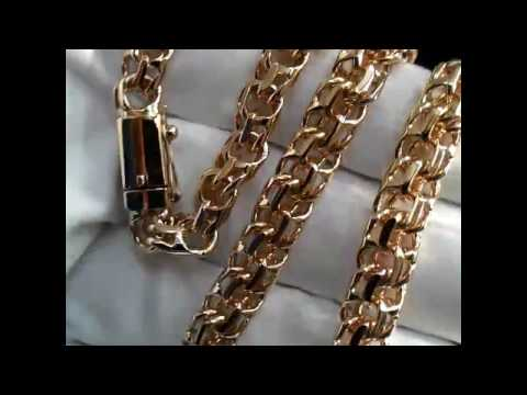 Цепочка золотая плетение Бисмарк на заказ из красного золота 585 пробы, длина 56 см., вес 81 грамм