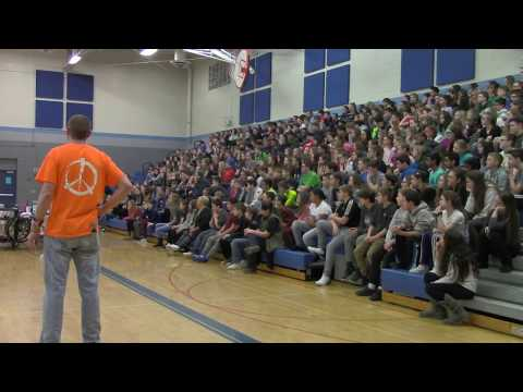 Youth Motivational Speaker 'Mr. Peace' Assembly @ Millennium Middle School (South Lyon, MI)